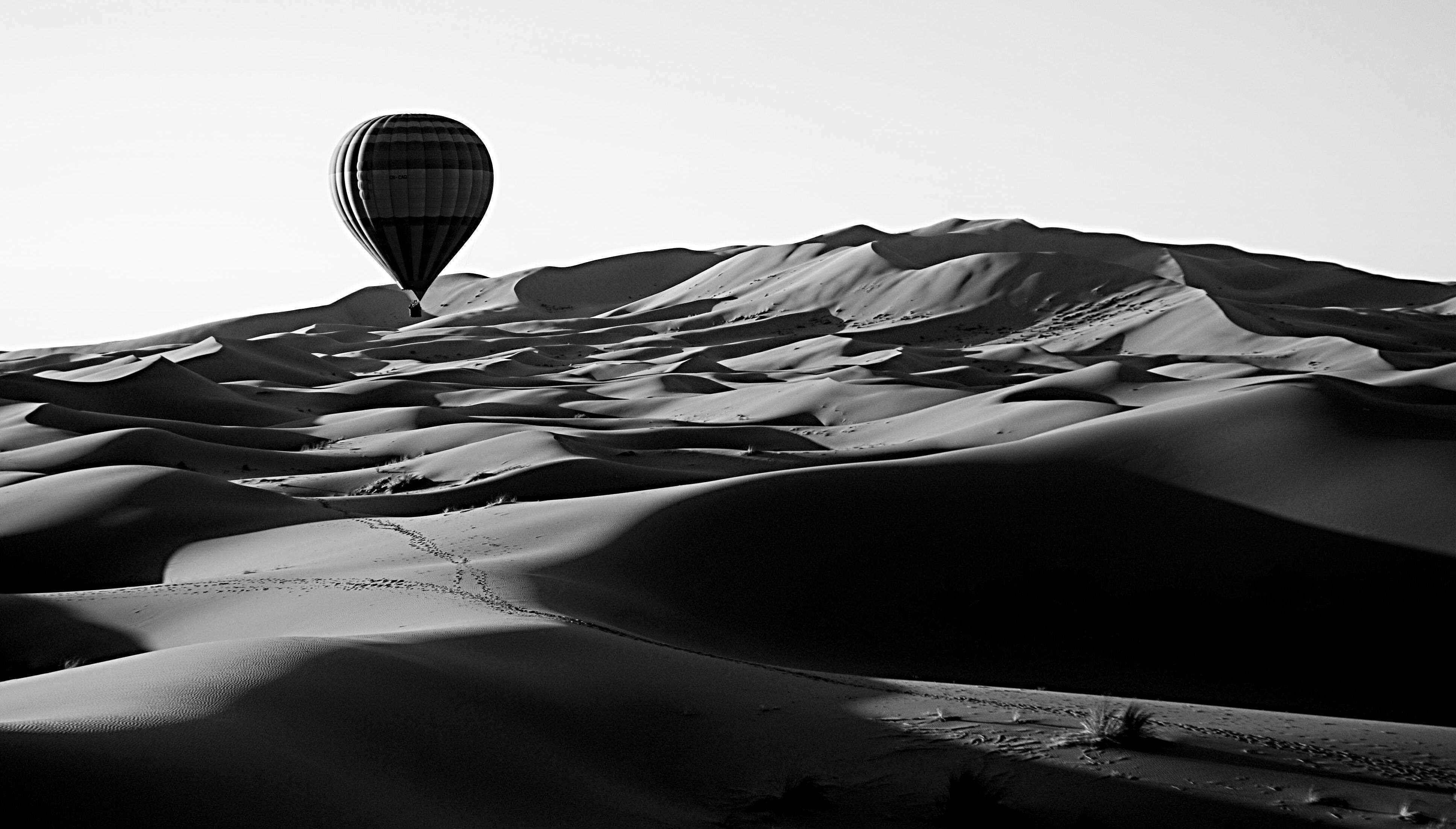 Ballon sur dunes
