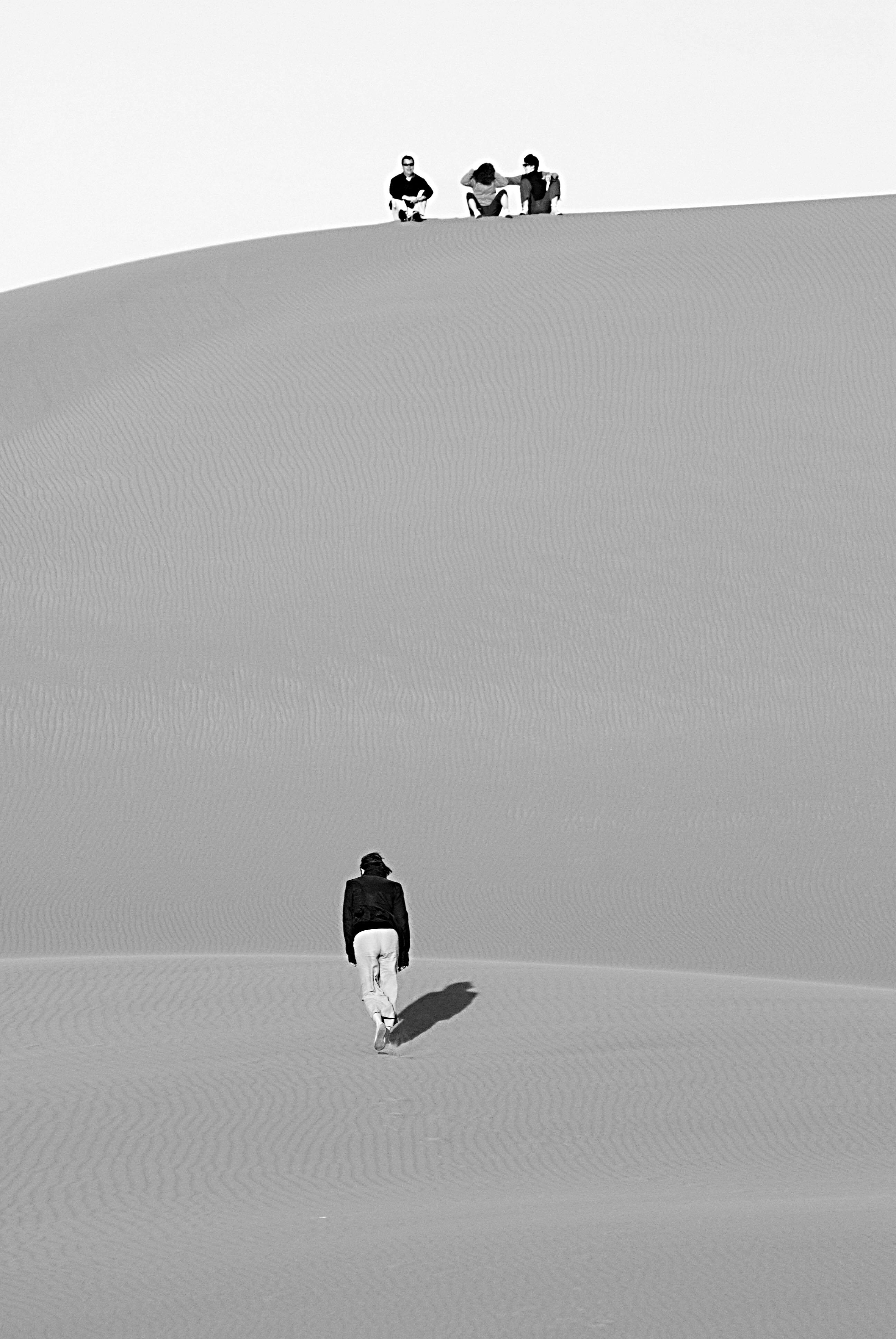 Monter une dune _ Merzouga