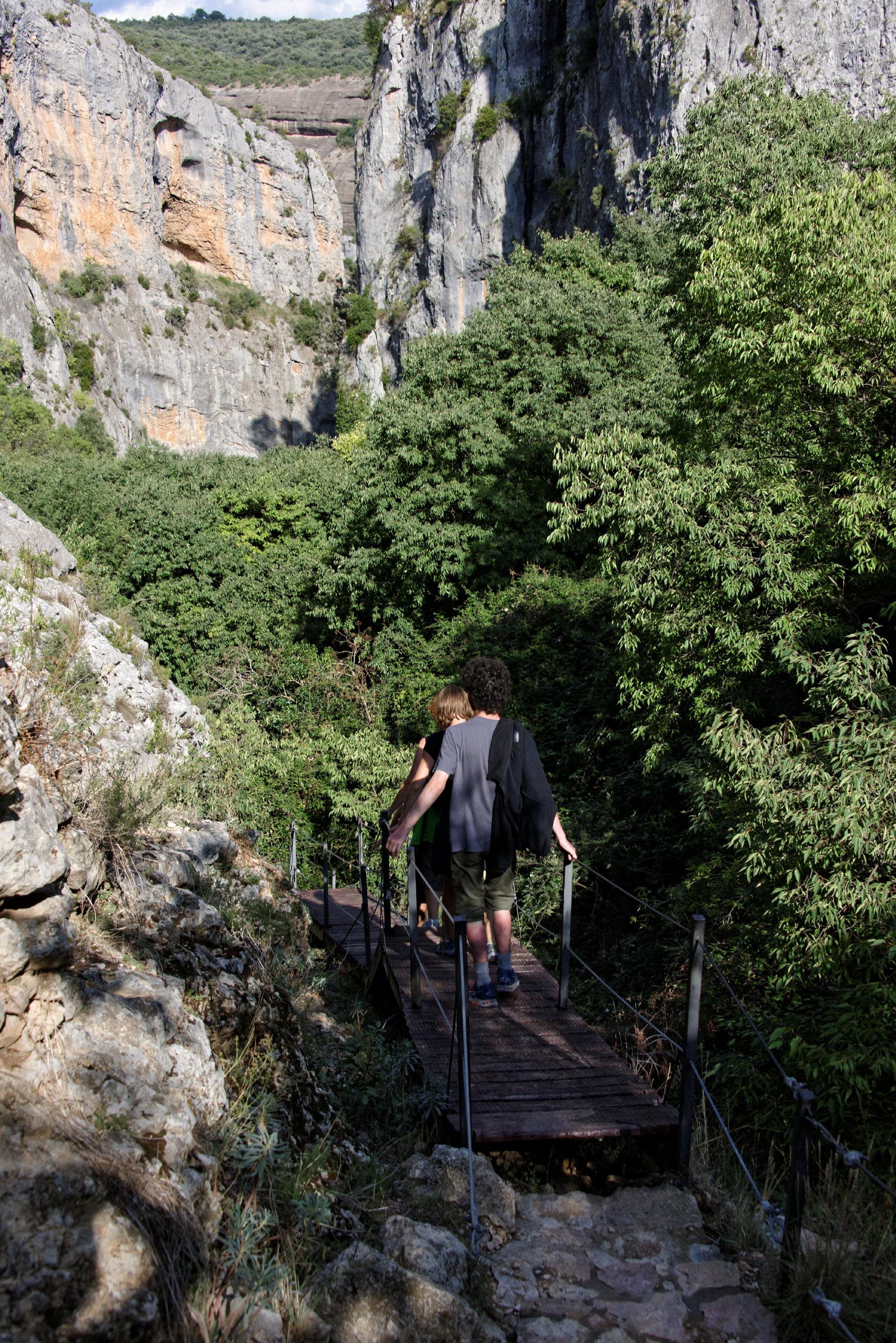 (7652) Alquezar - Sentier des passerelles ( Somontano)